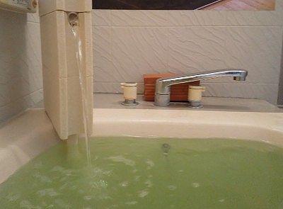 自宅のお風呂に湯口