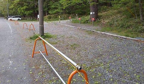 キャンプ利用者の専用駐車場
