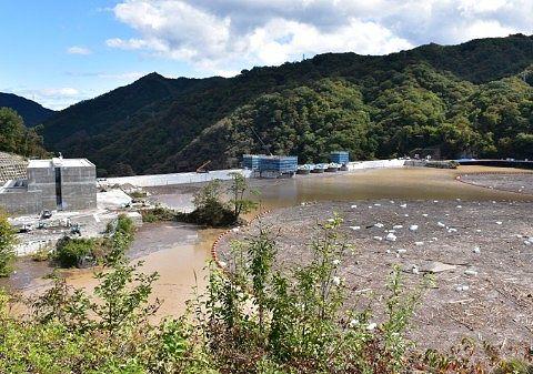 2019年10月15日やんば見放台から見た八ッ場ダムの様子