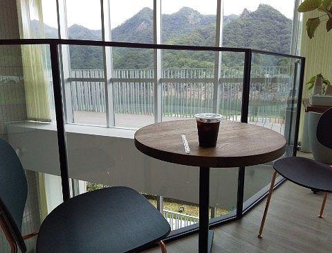 笹湯カフェでアイスコーヒー
