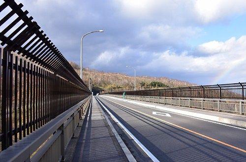 六万沢橋の上