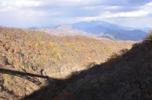 六万沢橋からの下界側の景色