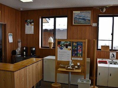 ソフトクリームやテイクアウト用コーヒーの売店