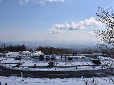 冬の霧降高原キスゲ平園地