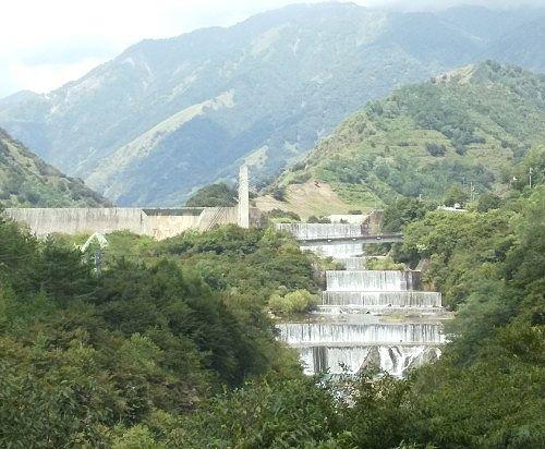 足尾砂防ダムと銅親水公園と銅橋