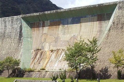 足尾砂防ダムの壁画