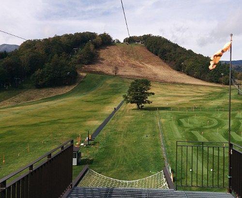 「BanZip TENGU(バンジップテング)」降り場から山頂を見る