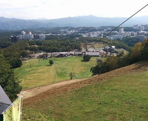 「BanZip TENGU(バンジップテング)」乗り場からの景色