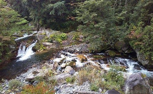 照葉峡の滝