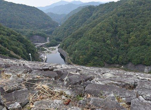 ダム上からの景色
