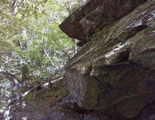 展望台岩下のビューポイント