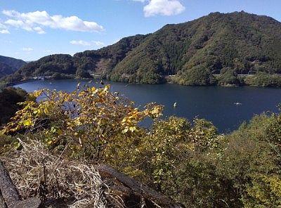 草木湖展望台からの眺め