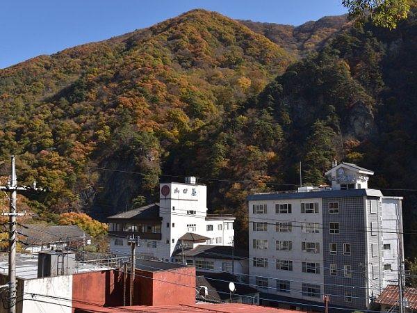 老神温泉赤城神社舞台からの眺め