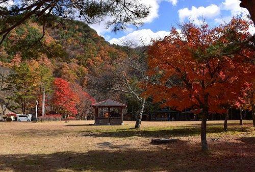 紅葉の銀山平公園