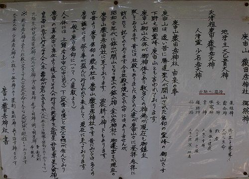 庚申山猿田彦神社由緒