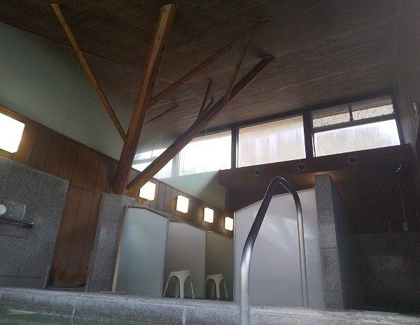 湯屋の天井