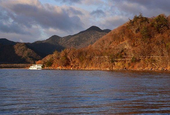 展望デッキからの中禅寺湖の眺め