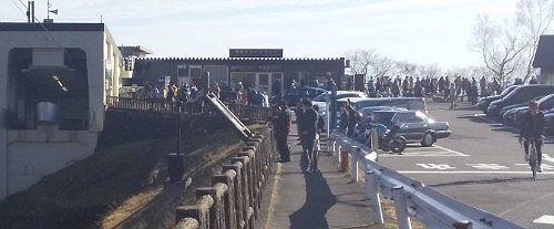 11月上旬日曜日朝、明智平ロープウェイの行列