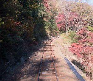 運転席横窓から線路上の景色