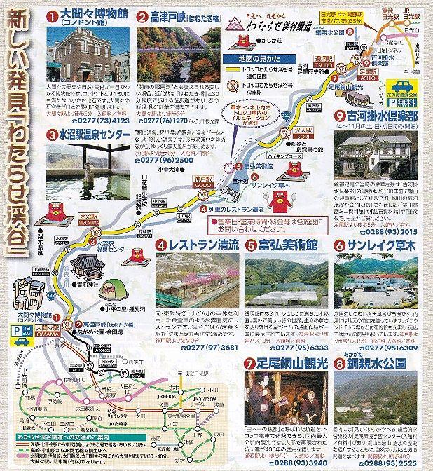 わたらせ渓谷鉄道観光マップ