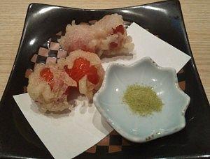ミニトマト天ぷら
