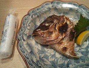 真鯛のカブト焼き