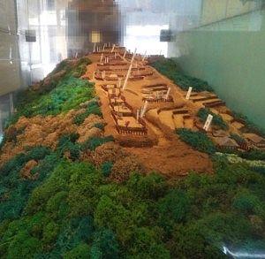 高津戸城のジオラマ