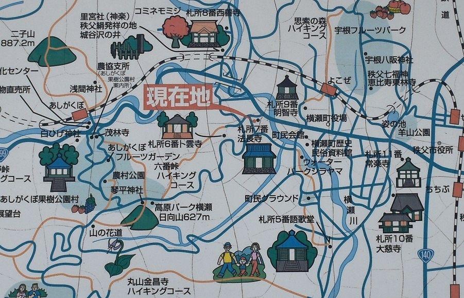 法長寺周辺札所巡り案内図