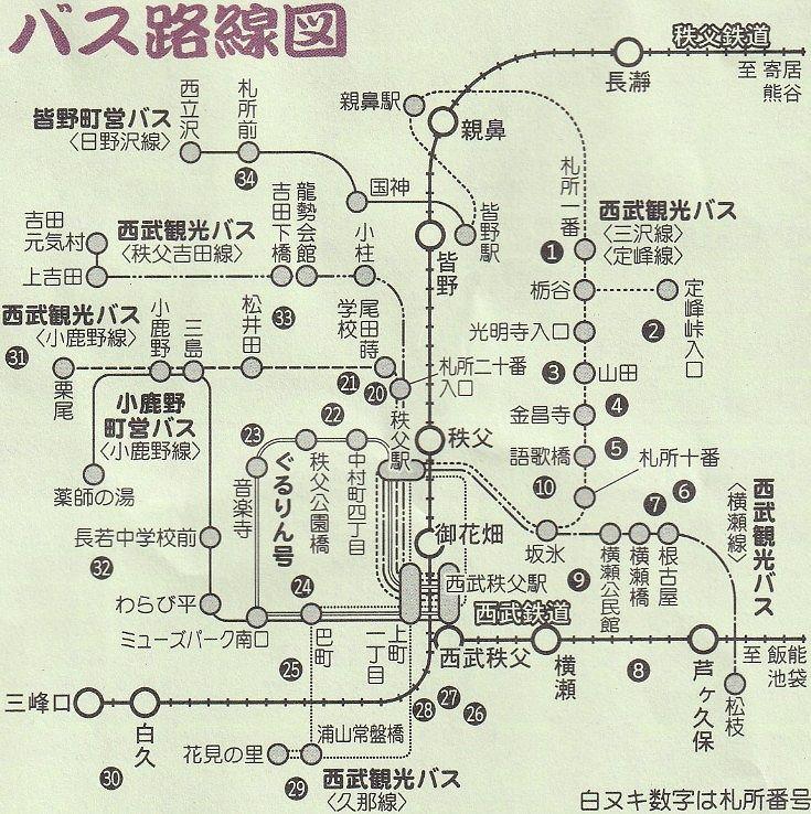 札所巡り路線バス案内図