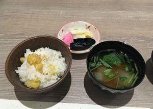 栗ご飯とお味噌汁