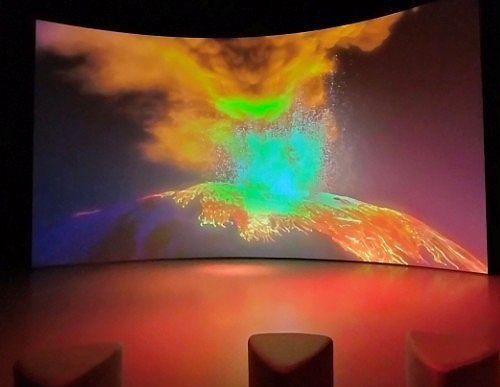 浅間山大噴火のシアター映像