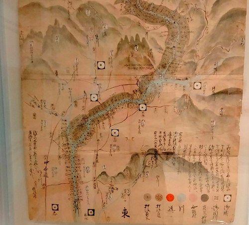 江戸時代の天明泥流被害絵図