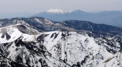 展望台からの浅間山の景色