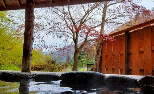 鹿覗きの湯からの景色