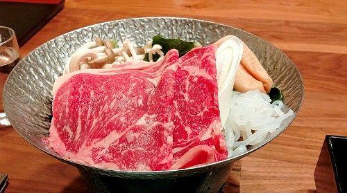 上州牛のスキ焼き