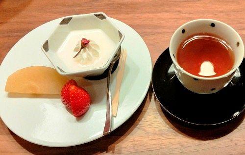 デザートとお茶