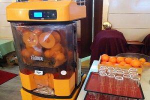 オレンジ生絞り機