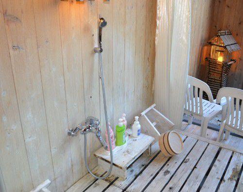 貸し切り風呂の洗い場