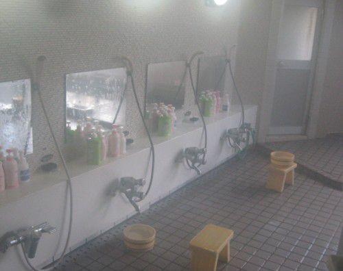 大浴場洗い場の様子