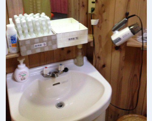 女性専用大浴場の洗面台