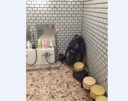女性専用大浴場の洗い場