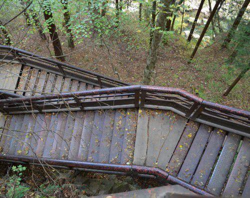 遊歩道の階段の様子