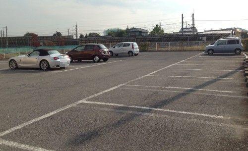 シルクロードの駐車場