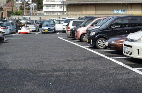 群大キャンパスの駐車場