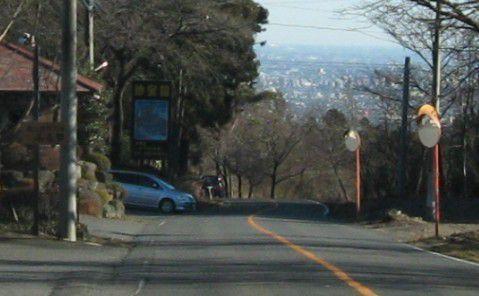 珍宝館前の道路