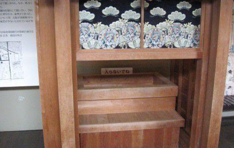 江戸時代の浴槽模型