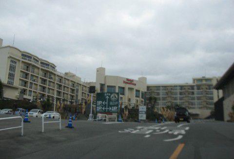 ハワイアンズホテル前