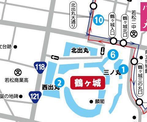 鶴ヶ城周辺マップ