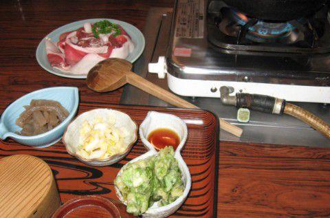牡丹鍋定食