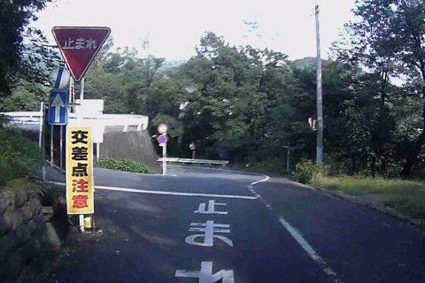 桐生が岡遊園地・動物園付近の交差点